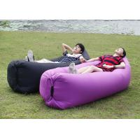 Buy cheap Polyester Two Open Mouth Sleeping Air Bags , Lightweight Purple Hangout Laybag product
