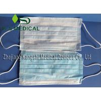 Cheap White / Blue Disposable Surgical Products Non Woven Face Mask 3ply for sale