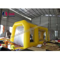 Quality Pvc Tarpaulin Inflatable Paint Booth , Yellow Color Portable Spray Booth For Cars wholesale