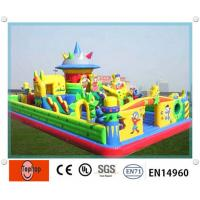 Quality Interesting safe Inflatable Fun City / playground for kindergartens , residential park wholesale
