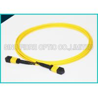 Cheap 3.0mm Low Insertion 24x Lanes MTP Female Fiber Optic OS2 Singlemode Trunk Yellow Cable for sale