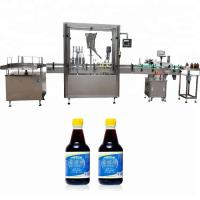 Quality PLC Control Glass Bottle Capping Machine With 4 Nozzles 750ml - 1000ml Filling Volume wholesale