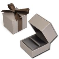"China 2 3/8"" x 2 3/8"" Simulated Leatherette Ring Box on sale"