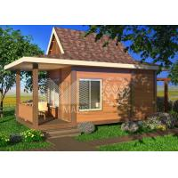 Quality Sandwich Panel Structure Ready Made Cottages , Prefabricated Steel Frame Homes wholesale