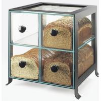 Quality Countertop 4 Drawers Acrylic Display Case , PMMA Bread Display Shelves wholesale