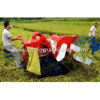 Quality 4LZ-0.8 without tail pulley mini muddy field applicable wheat combine harvester wholesale