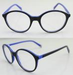 Quality Fashion Round Blue Acetate Optical Frame wholesale