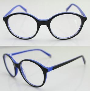 Cheap Fashion Round Blue Acetate Optical Frame for sale