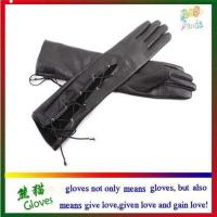 China Genuine leather gloves on sale