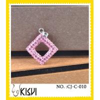 Quality Antique style dimond pink handcrafted crystal charm to highlight your spring time wholesale