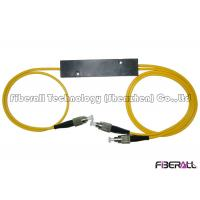 China 1x2 Fiber Optic PLC Splitter With Mini ABS Box / 3.0mm Cable / FC Fiber Connector on sale