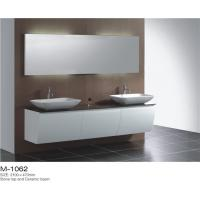 Quality Wall Mounted Double Sink Bathroom Vanity Stable Mould Resistant Customized Color wholesale
