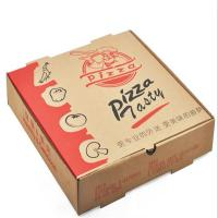 Buy cheap Recycled Food Packaging Printed Brown Kraft Paper Pizza Box from wholesalers