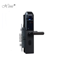 China Metal 360° 1S Biometric Fingerprint Door Lock 6V Battery on sale