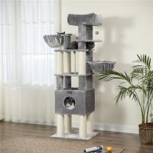 China Eco Friendly Small Modern Cat Tree Premium XXL Plush Perch Durable Compact on sale