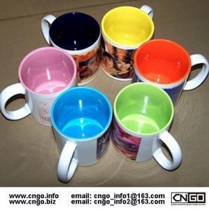 Quality Export inside colors sublimation ceramic mug custom LOGO 7102 mark cup wholesale