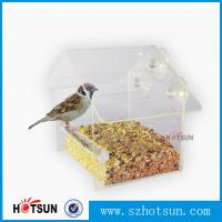 Cheap Wholesale 2016 Custom Hanging Bird Water Feeder,Grateful Gnome Window Brid Feeder,Acrylic Clear for sale