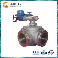 China SZF946 waterworks water supply 4 way ball valve on sale