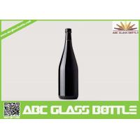Quality wholesale 750ml black glass wine bottle with cork wholesale