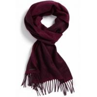 Quality Geometric Reversible Winter Knitted Scarf  Embroidery Logo / Wool Yarn Available wholesale