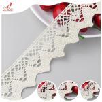 Quality Eco - Friendly Apparel Cotton Lace Fabric Trim High Color Fastness wholesale