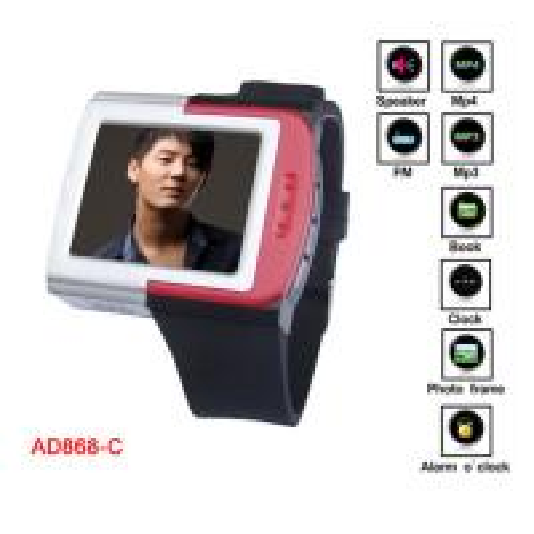 "Cheap 1.8"" TFT True Color Screen Silicone Digital Sports Wrist MP4 Watch / FM radio / 8G TF Card for sale"