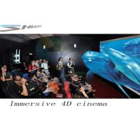 Quality 4D Movie Theater With Motion Chair Seat, Special Effect System, Flat / Arc Screen wholesale