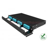 Quality High Density 1U Fiber Patch Panel Rack Mount 19 Inch With 4 MPO Cassette wholesale