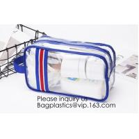 China Modern Fashion Travel Portable Transparent PVC Customized Logo Cosmetic Pouch,PVC Cosmetic Pouch With red Zipper on sale