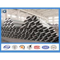 Quality Q345 Material 35FT 3mm Thick Hot Dip Galvanized Electric Steel Poles wholesale