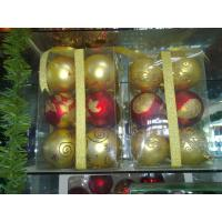 Quality Traditional Tinsel Personalised Christmas Decoration Ball 2cm to 50cm for House wholesale