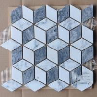 Quality Cubic Shaped External Garden Mosaic Tiles Border Mosaic Path Tiles For Kitchen Backsplash wholesale