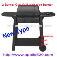 Quality 2 Burner Gas Barbecue with side burner wholesale