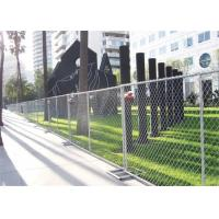 China Portable Galvanized Iron Chain Link Wire Mesh Fence For Construction on sale