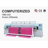 Quality Tricolor Computerized Embroidery Machine , Automatic Quilting Machine Easy Operation wholesale
