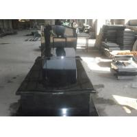 Quality Black Granite Memorial Headstones For Tombstone Polished Surface Finish wholesale