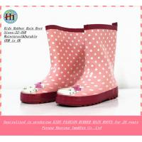Quality Fashion Girls Rubber Boot,Rubber Rain Boots,Children's Wellington Boot with straps on the sides wholesale