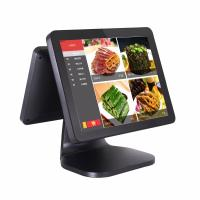 Quality Dual Screen Pos Computer System 35W Power Consumption With Card Reader wholesale