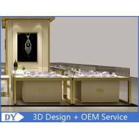 Cheap OEM Custom Luxury Glass Jewelry Showcase Counter With Led for sale