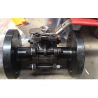 Quality 3PC Flanged Ball Valve , ASTM A216 WCB 2 Inch Carbon Steel Ball Valves pneumatic/with iso5211 wholesale