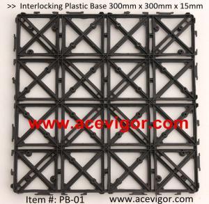 Quality PB-01 Interlocking Floor Deck Plastic Tile Base wholesale
