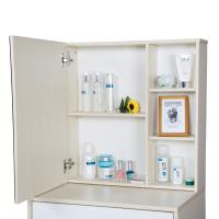 Cheap Particle Board Bedroom Makeup Vanity Set White With Mirror / Hidden Cabinet for sale
