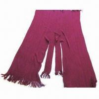 China Women's Warp Knitted Winter Shawl, Made of 100% Acrylic, Measuring 165 x 110 + 10cm on sale