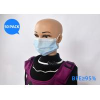China Soft 3 Ply Surgical Disposable Mask Non Woven Fabric Material With 90 Filter Type on sale