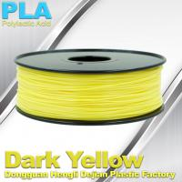 Quality Makerbot Material Fluorescent Dark Yellow PLA 3d Printer Filament 1.75mm / 3.0mm wholesale