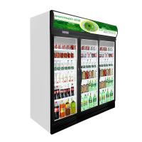 China Air Cooling 3 Door Glass Display Freezer With Led Light For Supermarket on sale