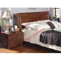 Quality New American Style Solid Wood Bed with Wardrobe for Luxury Home Decoration wholesale