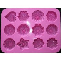 Cheap silicone muffin cake molds , flower shape silicone tray  mold ,custom  silicone  mold for sale