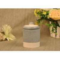 Quality Hand Made Ceramic Candle Jar Anti Thermal For Air Refreshment wholesale
