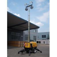 Quality Moveable Light Tower 9m 4*1000W with Hydraulic Operation Rectangle Regular metal halide wholesale